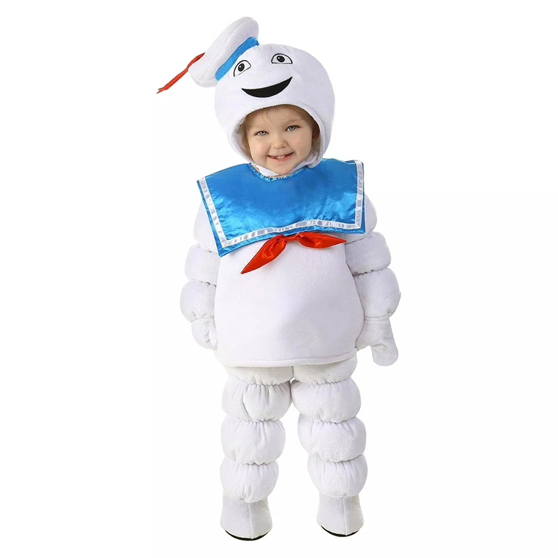 New Arrival Plush Cute Ghost Soft Kids Toddler Stay Puft Marshmallow Man Child Halloween Costume    - AliExpress
