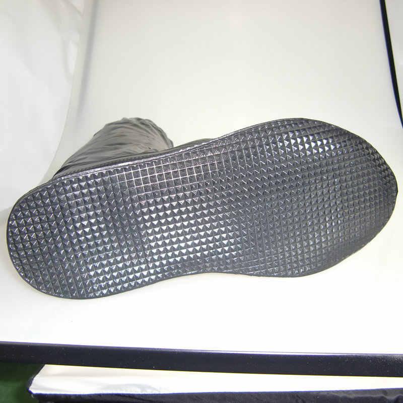 Long Barrel Anti-Selip Sepatu Penutup Perlindungan Kaki Perjalanan Sepatu Tahan Air Sepatu Menutupi Selubung Lokomotif Hujan bukti Sepatu Penutup