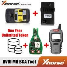 Xhorse V5.0.5 VVDI MB narzędzie do Benz klucz programujący dostać 1 rok nieograniczony Token + Mini kluczyk narzędzie + Xhorse Keyless Go PCB + symulator ELV