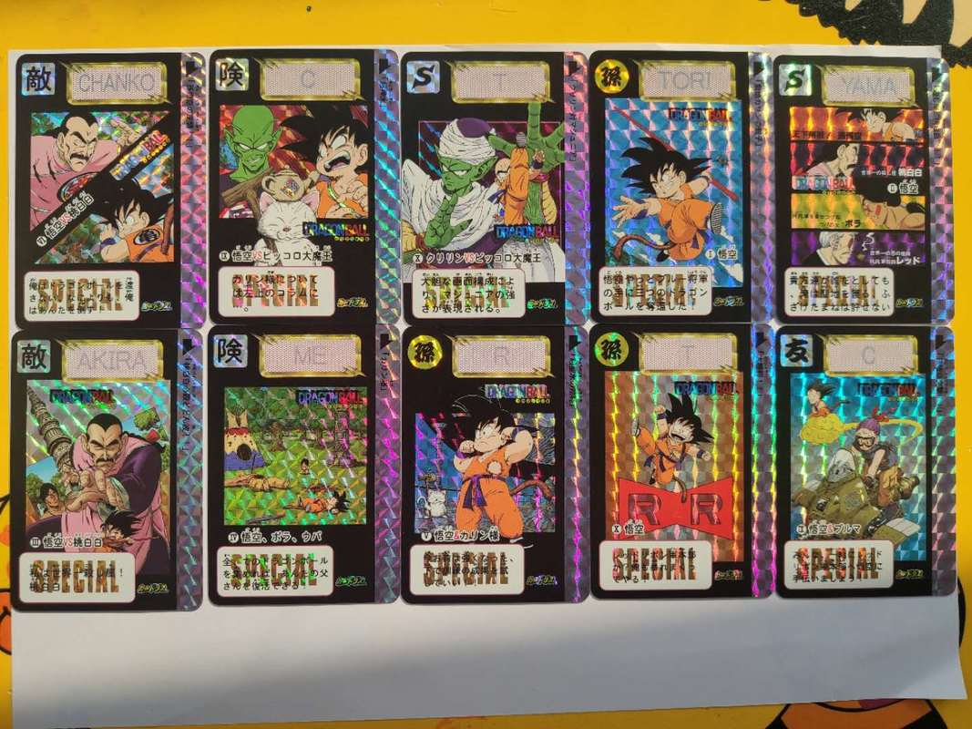 30pcs/set Dragon Ball Z Super Saiyan Goku Vegeta Game Action Figures Commemorative Edition Collection Cards Free Shipping Limit