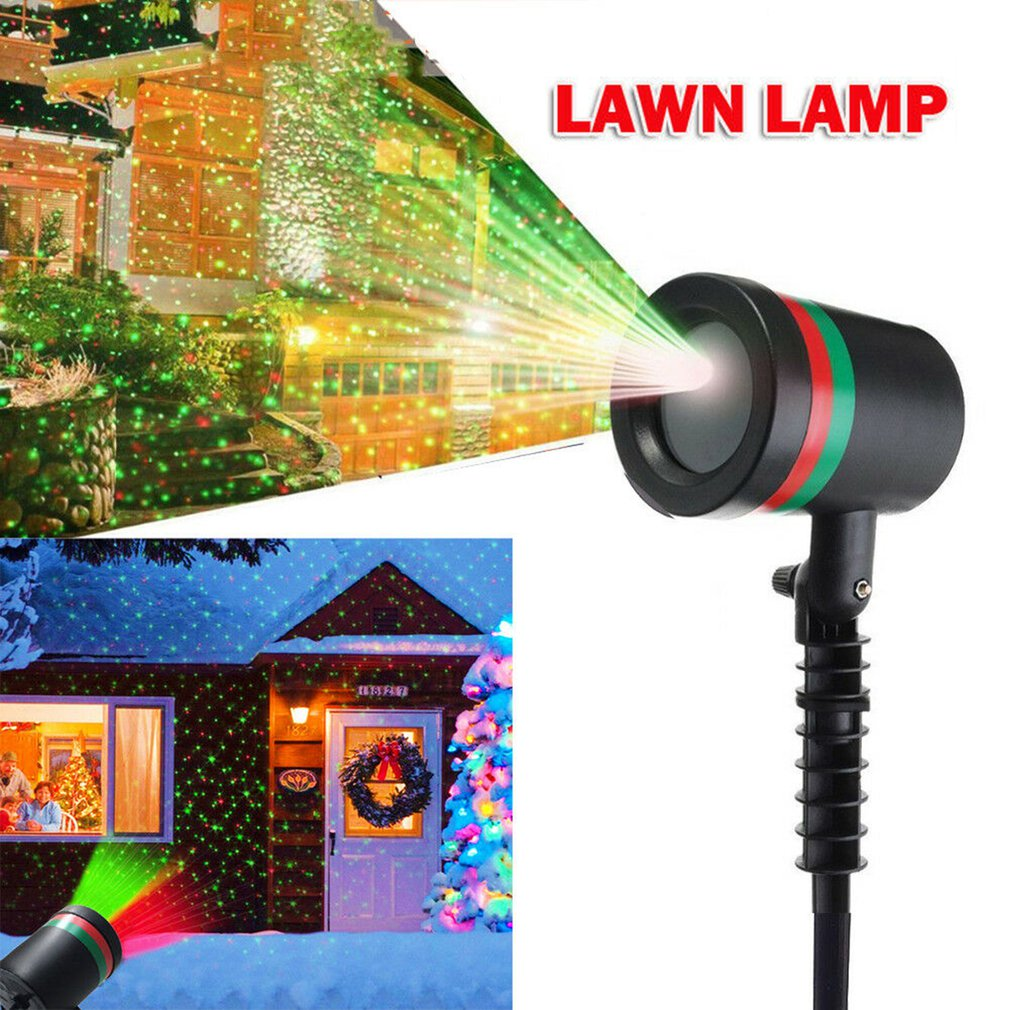 Christmas Star Laser Projector Light LED Moving Outdoor Landscape Stage RGB Lamp Landscape Xmas Garden Lamp
