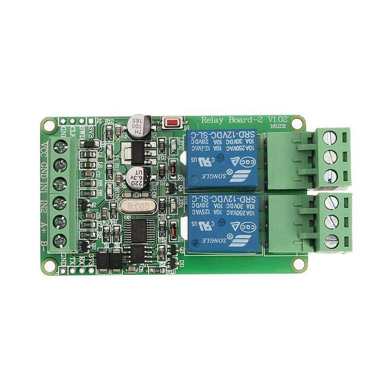 Module de relais 2 voies modbus-rtu sortie 2 canaux d'entrée interface de communication TTL/RS485