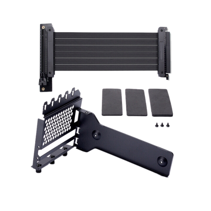 Anti Interference GPU Extension Line Computer PCI-E X16 Vertically VGA Card Graphics Card Bracket Set Suit 7 Slot Mount