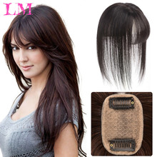 Covering Gray Hair 3D Bangs Fake Hair Pieces Invisible Seamless Sea Head Replacement Hair Wig Clip On Bangs Hairpieces Extension