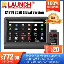 Launch X431 V מערכת מלאה כלי אבחון לרכב x 431 v 11 איפוס שירות x431 pro סורק קוד obd2 עדכון מקוון חינם לשנתיים