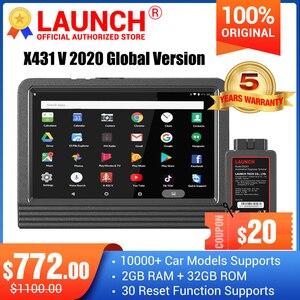 Image 1 - Launch X431 V מערכת מלאה כלי אבחון לרכב x 431 v 11 איפוס שירות x431 pro סורק קוד obd2 עדכון מקוון חינם לשנתיים
