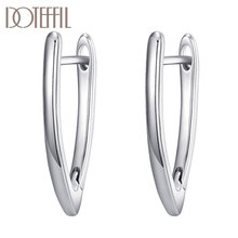DOTEFFIL 925 Sterling Silver/18K Gold/Rose Gold Charm Earrings For Women Jewelry Fashion Wedding Party Gift