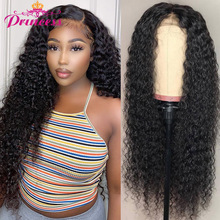 Human-Hair-Wigs Lace-Frontal Kinky Curly Pre-Plucked Princess Brazilian 13X4