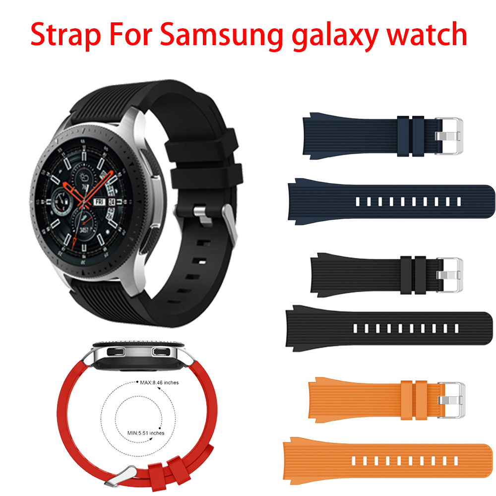 Soft Silicone Strap For Samsung Galaxy Watch 46mm/Gear S3 Frontier/Classic 22mm Sport Bracelet Wristband Replacement Correa Belt