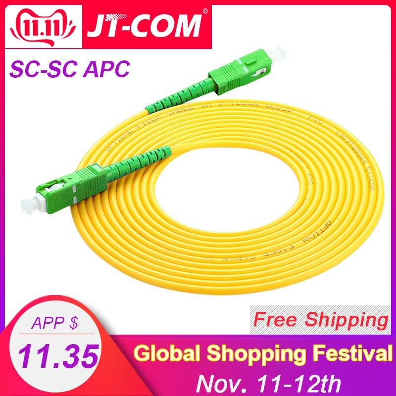 10pcs SC/APC Fiber Optic Patch Cord Cable SM SC-SC 3.0mm 3M Jumper Single Mode Simplex 3mm Optical Fibra Optica FTTH 9/125um PVC
