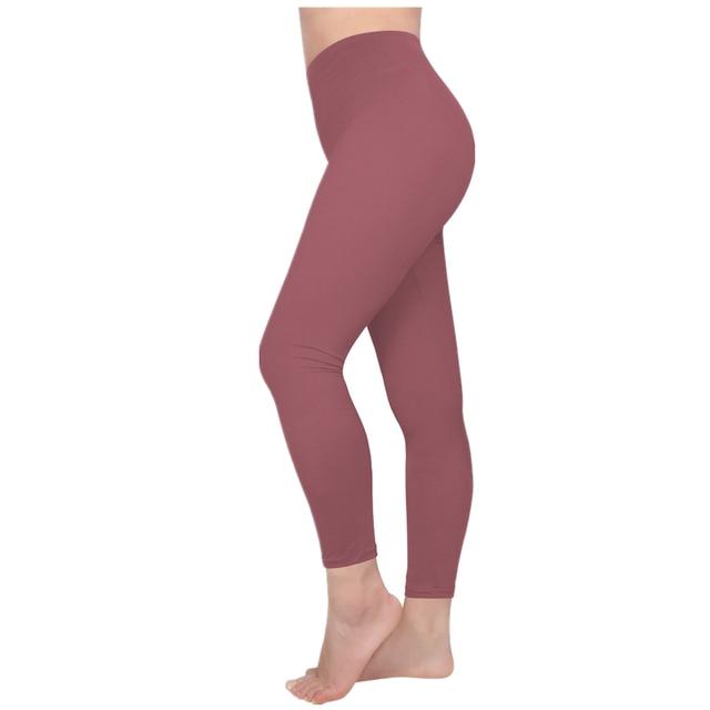 Seamless Solid Color Leggings 10