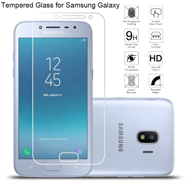 Твердое Стекло экрана для Samsung Galaxy J1 2015 J2 Prime J3 Emerge закаленное стекло для Samsung J2 Pro 2018 стекло на J7 Max Nxt V