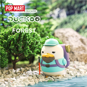 Image 3 - POP MART Duckoo Duck figure in the forest Blind Box Doll Binary Action Figure Birthday Gift Kid Toy