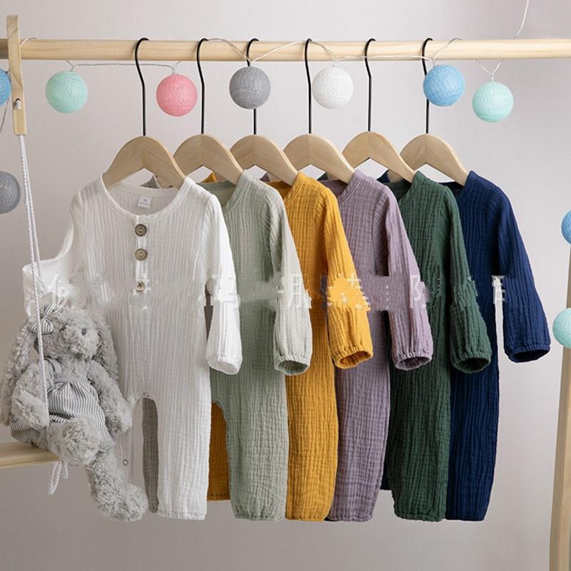 New Style Childrenswear  Cross Autumn  Cotton Linen One-piece Romper