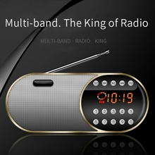 Fm רדיו נטענת ווקמן עם התוספת כרטיס בית Led תצוגה דיגיטלית רדיו