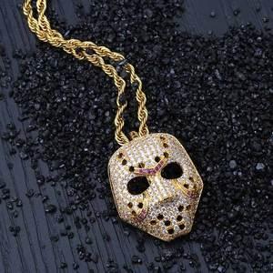 Free Shipping New Fashion Skull Pendant Statement Necklace Mask Charms Choker Crystal Necklace Women Holiday Women Jewelry(China)