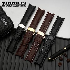 Image 5 - Bracelet de montre en cuir véritable pour bracelet GC, 22*13mm 20*11mm, avec boucle papillon, en acier inoxydable