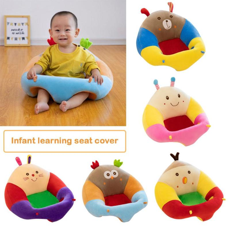 Baby Seats Sofa Cartoon Animal Plush Filler Cushion Sofa Infants Car Travel Sit Feeding Support For Children Sit Trainer