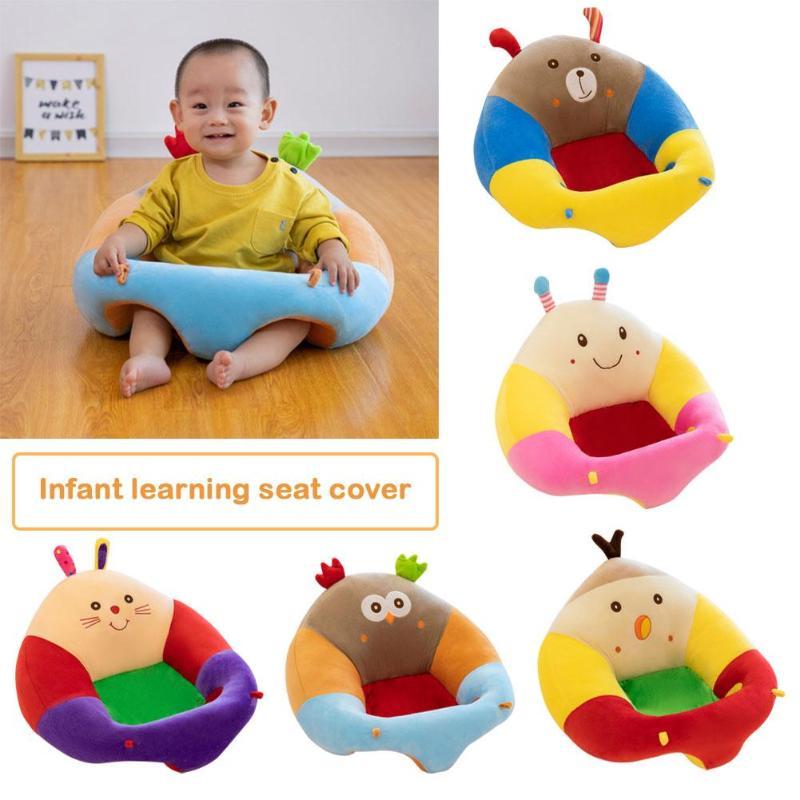 Baby Seats Sofa Cartoon Animal Plush Filler Cushion Sofa Infants Feeding Chair Car Travel Sit Support For Children Sit Trainer