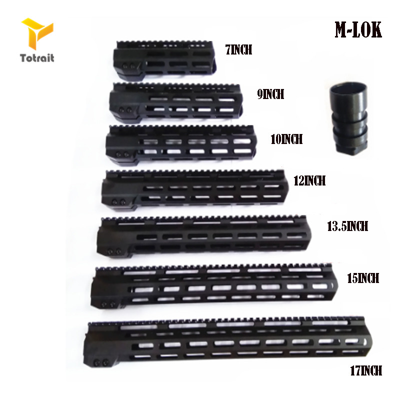 TOtrait AR15 M-Lok Mlok 7 9 10 12 13.5 151719 Slim Free Float M-LOK Handguard Rifle Scope Mount with Steel Nut image