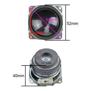 Image 3 - 2 inç 20W tam aralıklı Subwoofer hoparlör 8ohm PP lavabo refleks kumaş kenar çift manyetik uzun strok masaüstü DIY 1 çift