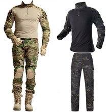 Ao ar livre airsoft paintball roupas de tiro militar uniforme tático combate camuflagem camisas calças dos homens do exército uniforme germen