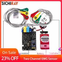 EMG sensor 2 channel Muscle Sensor Module serial port communication secondary development available wearing device