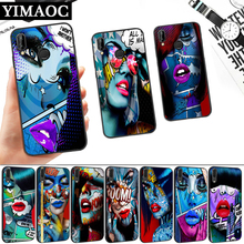 Monika Nowak Art Lips Silicone Soft Case for Huawei P8 P9 P10 P20 P30 Lite Pro P Smart Z Plus