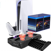 Vertical-Stand Controller Cooling-Fan 2-Dualsense Charging-Cradles For Ps5 with Digital