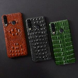 Image 5 - جلد حالة الهاتف ل هواوي الشرف 30 30S X10 20 20i 10 10i 9 8 لايت 9X 8X ماكس 7X 7A V30 برو V20 V10 التمساح الذيل الخلفي غطاء