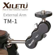 XILETU TM 1 ユニバーサル外部アーム 1/4 三脚にマウントすることができフラッシュライトマイク電話クリップホルダー