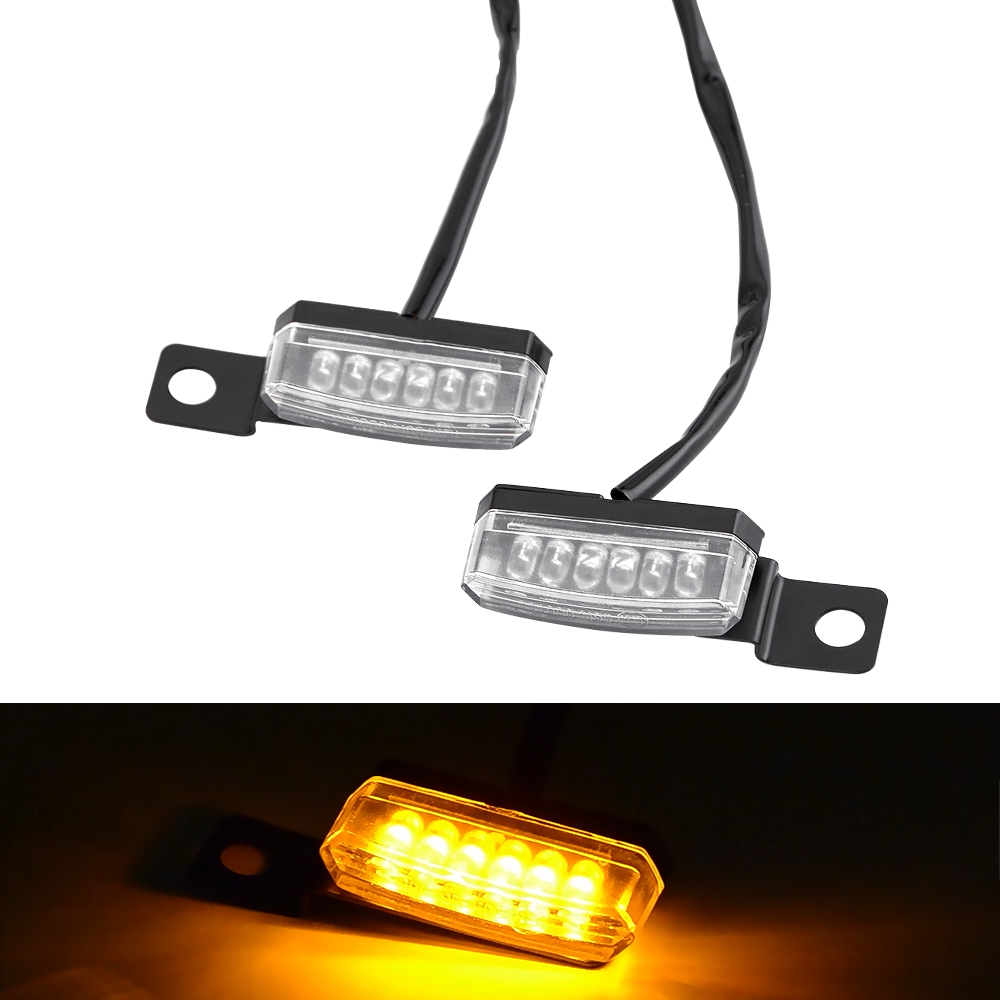 2x LED Turn Signal Lights Indicator Scooter Dirt Pit Bike Motorbike Chopper ATV
