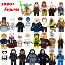 Star Wars ตัวเลข Legoielys StarWars Leia Han SOLO Lando Palpatine Luke Sith Lord Darth Vader Maul Revan Dooku Building Blocks(China)
