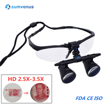 2.5X 3.5X Medical Dental Binocular Magnifier Galileo Dentistry Surgical FD-501 Low Glasses Loupes Protective Spectacles Glasses