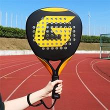 Professional Carbon Paddle Racket Soft EVA Face Tennis Raqueta with Racket Bag for Men Women Training Accessories
