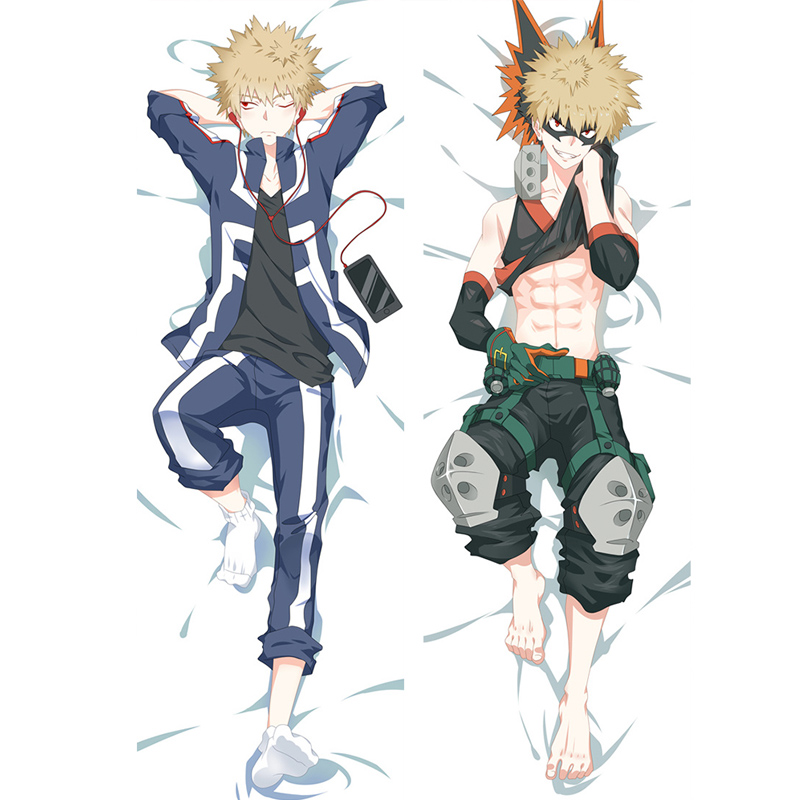 Boku No My Hero Academia Katsuki Bakugou Anime Dakimakura Hugging Body Pillow Case DIY Cushion Fujoshi BL Cosplay Costume Cover