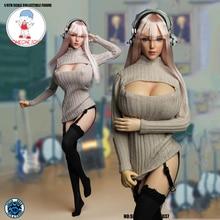 1/6 مقياس فتاة رئيس نحت مثير تأثيري الملابس مجموعة SET037 ل 12 Inches أنثى TBLeague كبيرة الثدي الجسم الشكل العمل