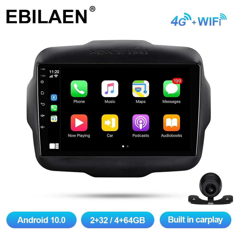 EBILAEN Автомобильный мультимедийный плеер для Jeep Renegade 2016 2017 2018 Android 10,0 Авто радио GPS навигация радио камера IPS экран 4G