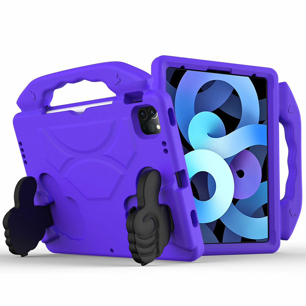 Purple Blue for iPad Air 4 Case 2020 A2316 A2324 EVA Safe Kids Handle Stand Tablet Case Cover