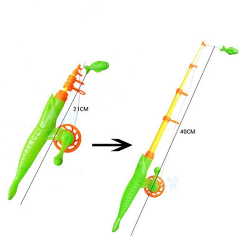 1PCS Fishing Games Children 40cm Magnetic Fish Rod Toy Plastic Retractable Pole For Kids