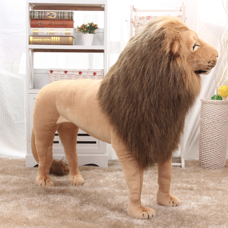 Huge Stuffed Toys Simulated Lion Large Plush Toys Children High Quality Lion Stand Christmas Gift Home Decoration 1.1m AA50MR - 3