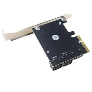 Image 5 - PCI Express contrôleur dextension 3.0x4 à 5 ports SATA III, 6Gbps, carte dextension, multiport pour HDD SSD, avec câbles de données 5x
