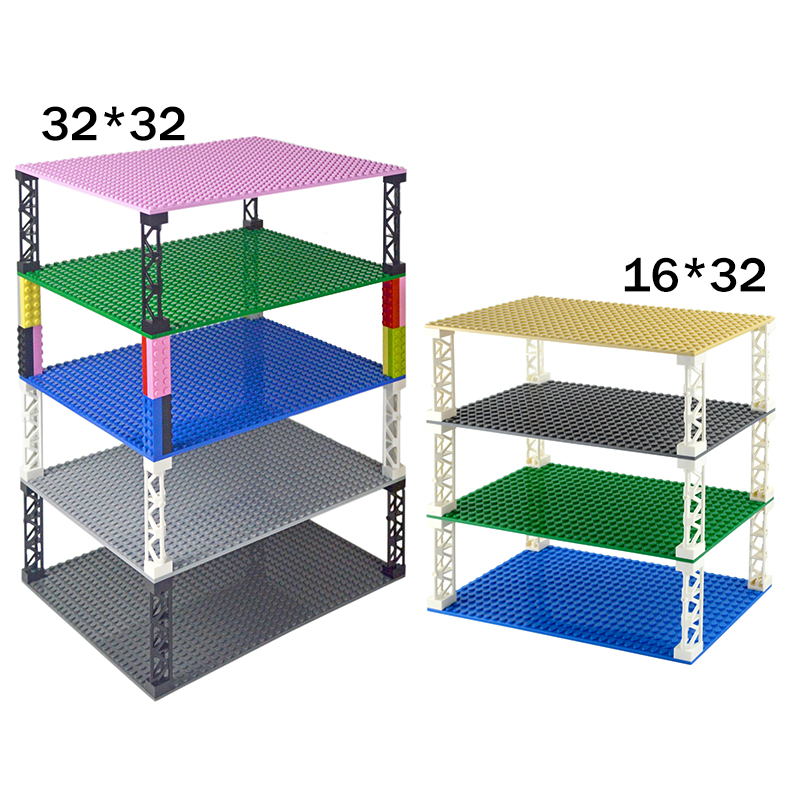 Double sided Base Plate 32*32  32*16 Dots Classic Small Bricks Baseplates Building Blocks Compatible all brand Construction Toys