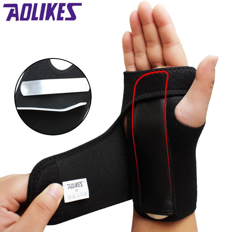 AOLIKES 1PCS Adjust Wristband Steel Wrist Brace Wrist Support Hand Brace Wrist Support Finger Splint Carpal Tunnel Syndrome