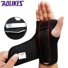 AOLIKES 1 adet ayar bileklik çelik bilek Brace bilek desteği el bilek Brace bilek desteği parmak ateli karpal tünel sendromu