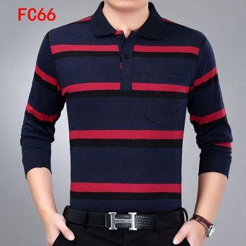 Wysokiej jakości jednokolorowa kieszeń dekoracyjna koszulka Polo Casual koszulka Polo męska koszulka polo z długim rękawem 2020 nowa w paski męska koszulka Polo tanie i dobre opinie Pełna CN (pochodzenie) REGULAR W stylu Preppy Kieszenie Patchwork COTTON Anty-pilling Stałe stripe Asian size Spring summer autumn