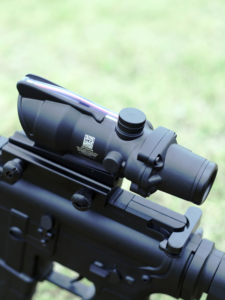 ACOG 4X32 Optical Sight Red Dot Sight Scopr Riflescope Tactics Fiber Hunting Scope Rifle Weapon Sight Prismatic Collimator Sight