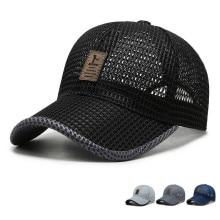 Summer Unisex Men fishing Baseball Caps Women Breathable Mesh Snapback Hats Black Casual sport Hats Cap