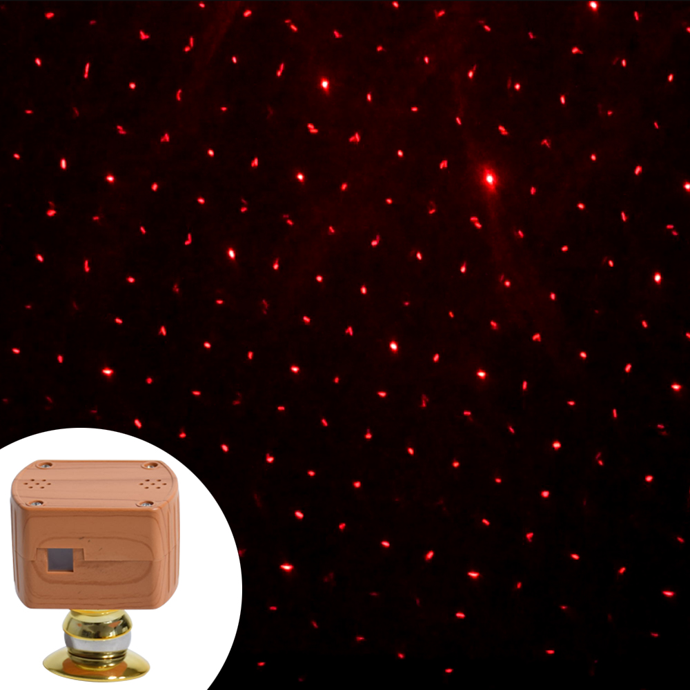 LED Car Roof Star Night Light Projector Atmosphere Galaxy Lamp USB Decorative Lamp Red Lighting Effects