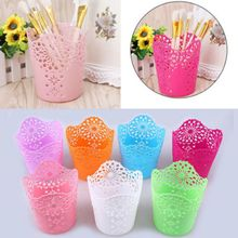 Desk-Organizer Makeup-Brush-Holder Pencil-Storage Officer-Supplies School Colorful Flower